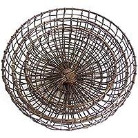 フルーツバスケット大、中、小3ピースレトロシンプルな錬鉄製のリビングルームの果物のバスケットの台所の排水バスケット (サイズ さいず : S s)