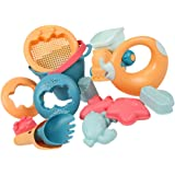 BESPORTBLE 14pcs Kids Beach Sand Toys Set Including Bucket Sifter Shovel Watering Can Sand Molds Sand Castle Building Toys fo