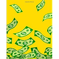 Money Rains Notebook: Music Composition Notebook with Five-Line Staff Paper and 12 Bar Staffs Per Page