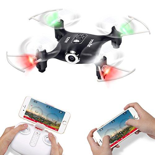 SYMA X21W Wifi FPV ミニドローン HDカメラiPhone&Android生中継可能 指定軌道飛行 ワンキーリターン高度維持機能 マルチコプター 日本語説明書付きブラック [並行輸入品]