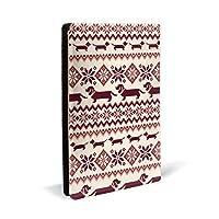 犬のノルディック柄 PUレザー ブックカバー A5サイズ 文庫本サイズ ブックカバー 新書サイズ 選べるイニシャル ブックカバー