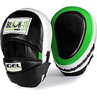 ゲル入りパンチングミット: Blok-iT - [パンチングパッド、パンチミットボクシングパッド、パンチンググローブ、フック&ジャブパッド] - ボクシング、MMA、タイボクシング、キックボクシング、ボクササイズ、空手、テコンドー、クラヴマガ、詠春拳、その他格闘技に最適