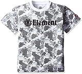 (エレメント)ELEMENT 子供用 半袖 プリント Tシャツ ( デジタル迷彩プリント採用 ) 【 AH025-301 / HORIZONTAL ELITE BOY 】 AH025-301 WHT WHT_ホワイト 150