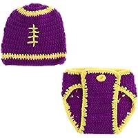 SONONIA 新生児 赤ちゃん ニット かぎ針 編み ビーニー 帽子 服 写真の小道具 全8様式