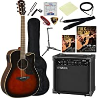 アコースティックギター エレアコ 入門13点セット ヤマハ Aシリーズ A1M ヤマハアンプ GA15II サウンドホールカバー付属 (TBS)
