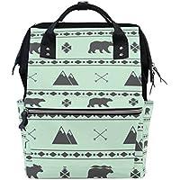 ママバッグ マザーズバッグ リュックサック ハンドバッグ 旅行用 クマと氷山 ファション
