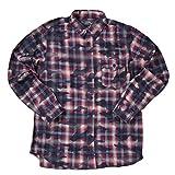 (アビレックス)AVIREX L/S CAMOUFLAGE CHECK SHIRT 長袖 カモフラージュ チェックシャツ 6155162 L (87)NAVYBLUE