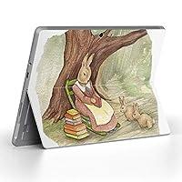 Surface go 専用スキンシール サーフェス go ノートブック ノートパソコン カバー ケース フィルム ステッカー アクセサリー 保護 うさぎ 動物 アニマル 014719
