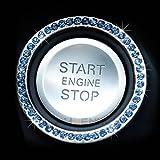 5275 スターター リング エンジンスターター スタート ボタン スワロフ 調 スイッチ 装飾 ラインストーン クリスタル ブルー
