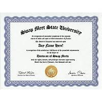 Swap Meet Swap Meets Degree: Custom Gag Diploma Doctorate Certificate (Funny Customized Joke Gift - Novelty Item) by GD Novelty Items [並行輸入品]