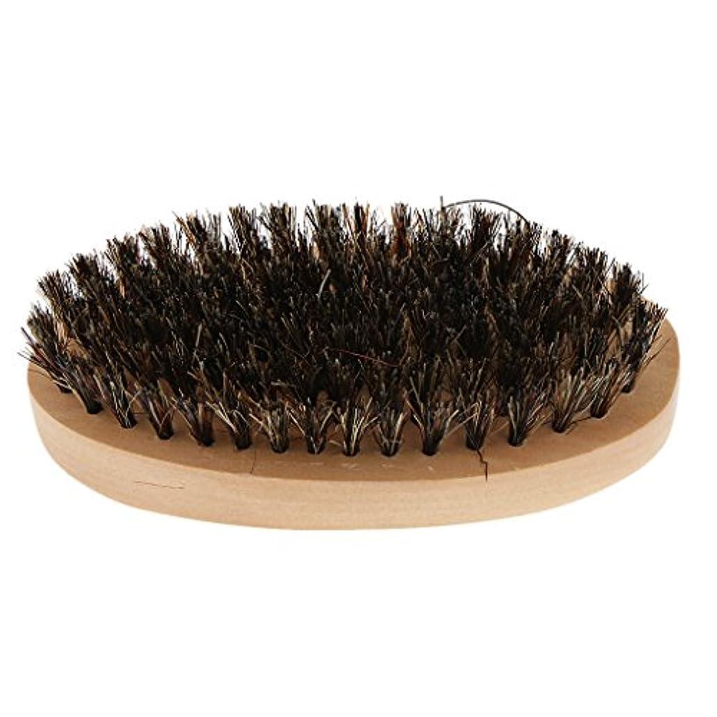 参加者核欺くToygogo 柔らかい毛が付いている木のひげのブラシは人のためのすべてのひげの香油およびオイルを使用します