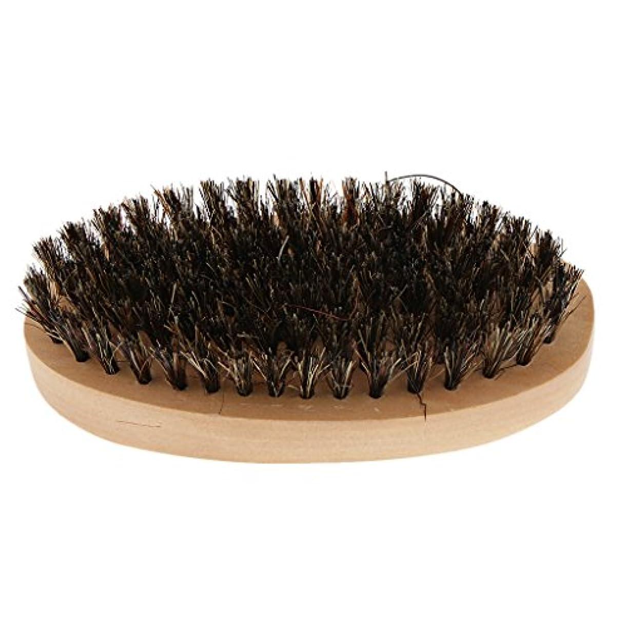 Baosity ビアードブラシ 口ひげブラシ メンズ 木製ハンドル ヘアブラシ