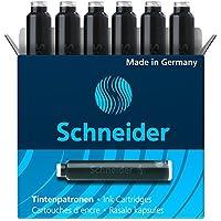 Schneider シュナイダー 万年筆用 インクカートリッジ 1箱6本入り (ブラック (BS6601-1box))