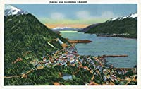Juneau , Alaska – Aerial View Of The City and the Gastineauチャネル 24 x 36 Giclee Print LANT-20647-24x36