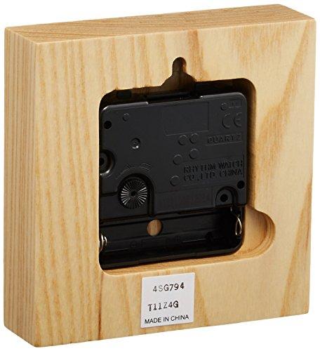 RHYTHM(リズム時計) インテリアクロックシリーズ スタンダードスタイル134 木枠 イエロー色 4SG794NC33