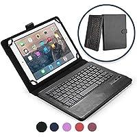 """Lenovo ThinkPad Tablet 2 10.1"""" キーボード ケース COOPER INFINITE EXECUTIVE 2-in-1 ワイヤレス Bluetooth キーボード マグネット式 レザー トラベル ケース カバー ホルダー フォリオ ポートフォリオ + スタンド(ブラック)"""