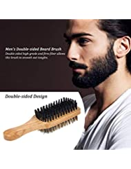 あごひげケア 美容ツール シェービングブラシ メンズ 理容 洗顔 髭剃り ひげ髭ブラシ ひげケア ひげ剃り シェービングブラシ デュアルサイド (Color : #1)