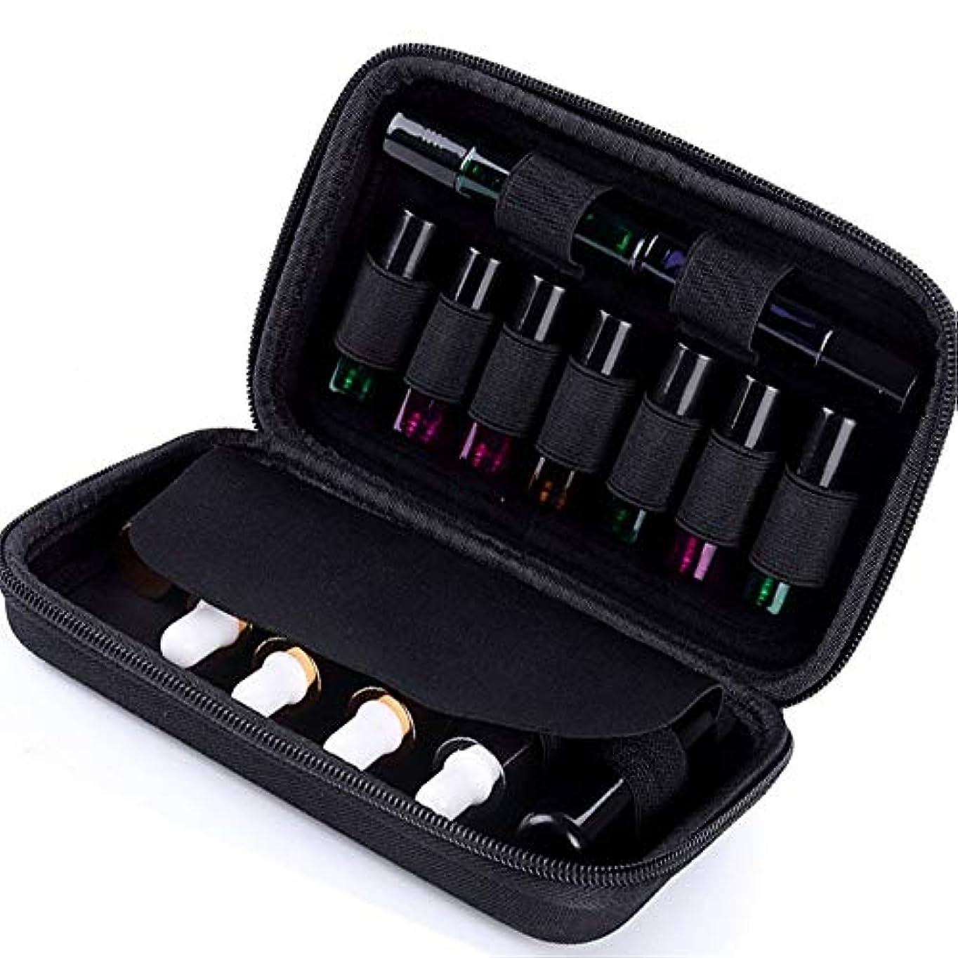 セールクリアコンピューターを使用するエッセンシャルオイルの保管 ローラーと標準ボトル10ミリリットルの場合は最大15本のボトルパーフェクトのためのケースプレミアムハードシェル保護キャリング15ボトルエッセンシャルオイル (色 : ブラック, サイズ : 20X13X4.5CM)