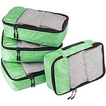 AmazonBasics Small  Packing Cubes - 4 Piece Set, Green