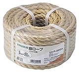 TRUSCO 麻ロープ 茶 9×20m 3つ打タイプ R920A
