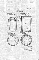 フレーム可能特許アート オリジナルポスターアートプリント 新鮮なコーヒーカップ装飾 11インチ x 17インチ 特許辞書PAPSSP174DW ホワイト