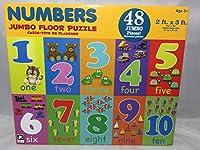 ジャンボFloorパズル–Numbers–48Pieces–2ft x 3ft