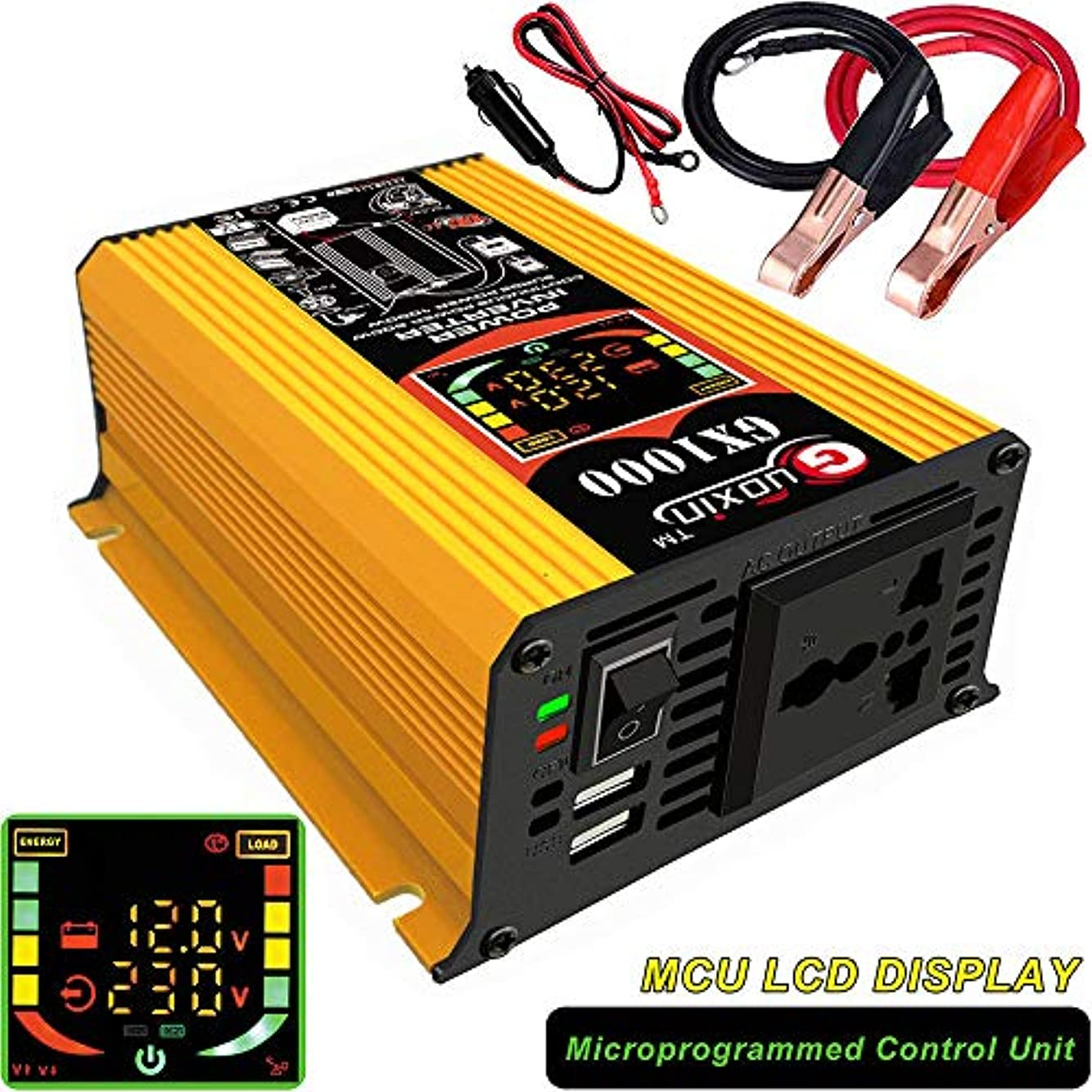 野球満足させる家事車の電源インバーター500W、波インバーターDC 12VからAC 110V 220V車の電圧インバーターコンバータートランスコンバーター,12VTO110V