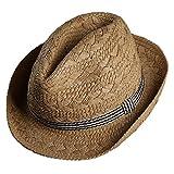[エターナルリーフ]Eternal Leaf 麦わら帽子 メンズ 柔らか ペーパーハット 中折れ ストローハット UVカット 帽子 FT18119
