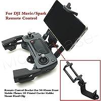 DJI Mavic /スパークリモートコントロールブラケットfor 50–85mmフロント携帯電話3dプリントキャリアホルダーマウント固定クリップアクセサリー