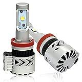 Autofeel 激安販売 H8LEDヘッドライトバルブ 8th H8 H11汎用 6000LM 36W 2本セット 一年保証 (H8/h11/H9)