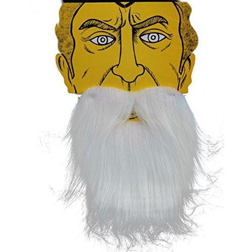 ノーブランド品 2個 コスプレ キャラ用 ひげ 口ひげ サンタのひげ クリスマス ホワイト 17* 20cm