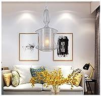 アイアンペンダントライトクリエイティブシープスキン天井照明新しいレストランのシャンデリア用リビングルーム寝室の家の装飾フィクスチャ