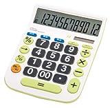 ナカバヤシ 電卓 デスクトップ大型キータイプL 12桁 税計算機能付 ECD-8503G