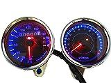 コンピュータやソフトウェア Best Deals - LED バックライト で 夜でも明るく 見やすい インジケーター 付 12V 機械式 凡用 バイク 用 スピードメーター 電気式 タコメーター (スピード...