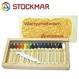 Stockmar(シュトックマー社) 蜜ろうクレヨン スティッククレヨン 16色 木箱【ST32502】