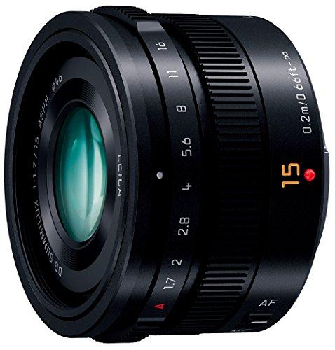 Panasonic 単焦点 広角レンズ マイクロフォーサーズ用 ライカ DG SUMMILUX 15mm/F1.7 ASPH. ブラック H-X015-K