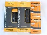 タイヤとチューブ2本セット Continental(コンチネンタル) ウルトラスポーツ 700c(28c,32c) ULTRA SPORT (700×28C(チューブバルブ長42mm)) [並行輸入品]
