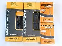タイヤとチューブ2本セット Continental(コンチネンタル) ウルトラスポーツ 700c(28c,32c) ULTRA SPORT (700×28C(チューブバルブ長60mm)) [並行輸入品]
