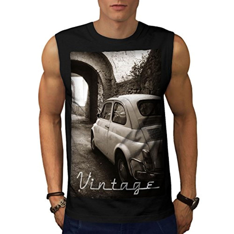 Wellcoda 車 レトロ ファンキー ビンテージ 男性用 S-5XL 袖なしTシャツ