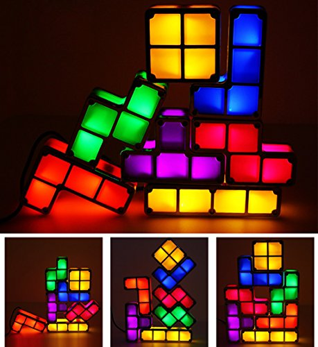 LEDライト テトリスライト 照明 おもちゃ 7色のブロック...