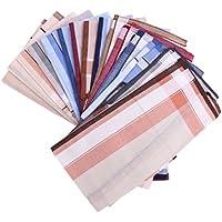 MagiDeal 12pcs/set Men Vintage Square Hankerchief Hanky Wedding Party Handkerchiefs