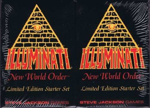 1994 Illuminati New World Order INWO LIMITED EDITION Starter Set イルミナティカード スターターセット(55枚入り×2個 合計110枚) By Steve Jackson