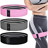 ASAKUKI Resistance Bands Set - 3Pcs Booty Bands for Women and Men - Exercise Resistance Bands Fabric - Non-Slip and Comfortable - 3 Resistance Levels - Perfect for Fitness, Home Workouts