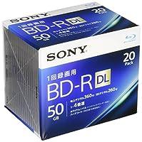 SONY ビデオ用ブルーレイディスク 20BNR2VJPS4(BD-R 2層:4倍速 20枚パック)