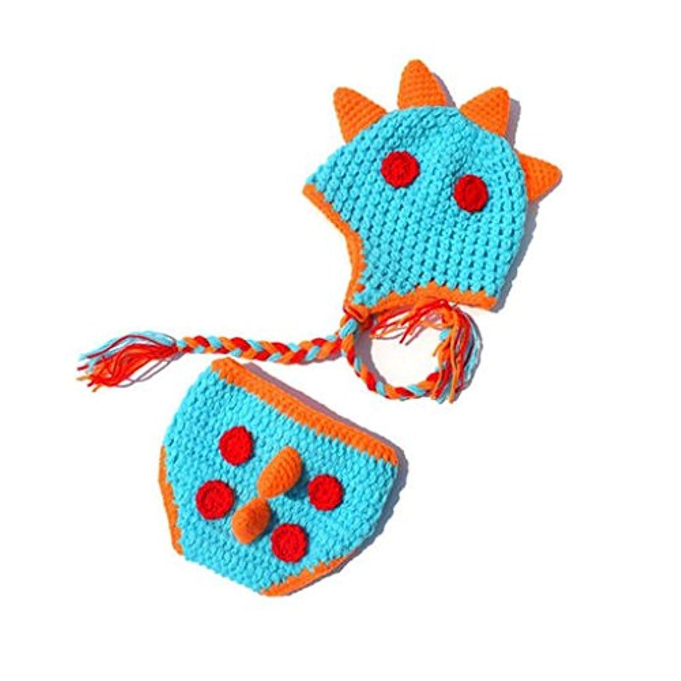 理由メディックリラックスしたDavcor Moring ベビー用着ぐるみ コスチューム 寝相アート 手編み感 新生児 赤ちゃん ヘアバンド付き 出産祝い 小恐竜