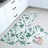 Ausget Kitchen Mat Cushioned Anti-Fatigue Kitchen Rug, Waterproof Non-Slip Kitchen Mats and Rugs Heavy Duty PVC Ergonomic Com