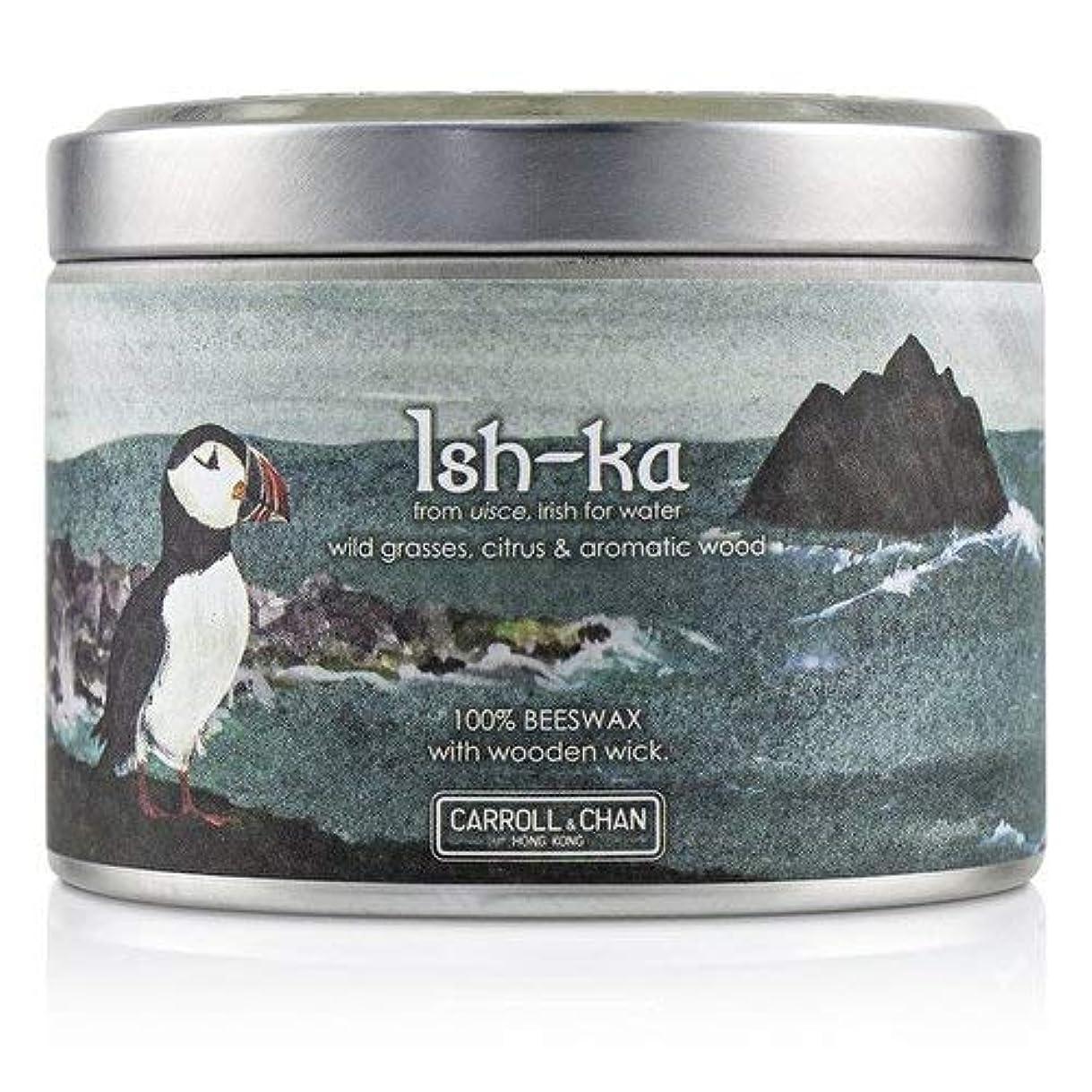 人質つまずくマラウイキャンドル?カンパニー Tin Can 100% Beeswax Candle with Wooden Wick - Ish-Ka (8x5) cm並行輸入品