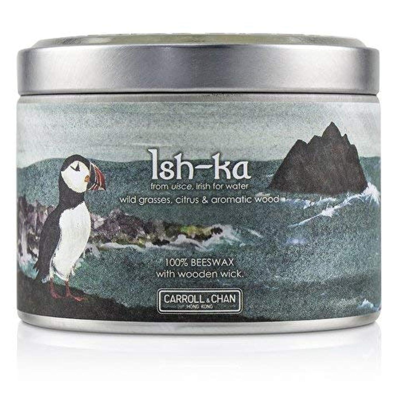 ほかに櫛ポジティブキャンドル?カンパニー Tin Can 100% Beeswax Candle with Wooden Wick - Ish-Ka (8x5) cm並行輸入品