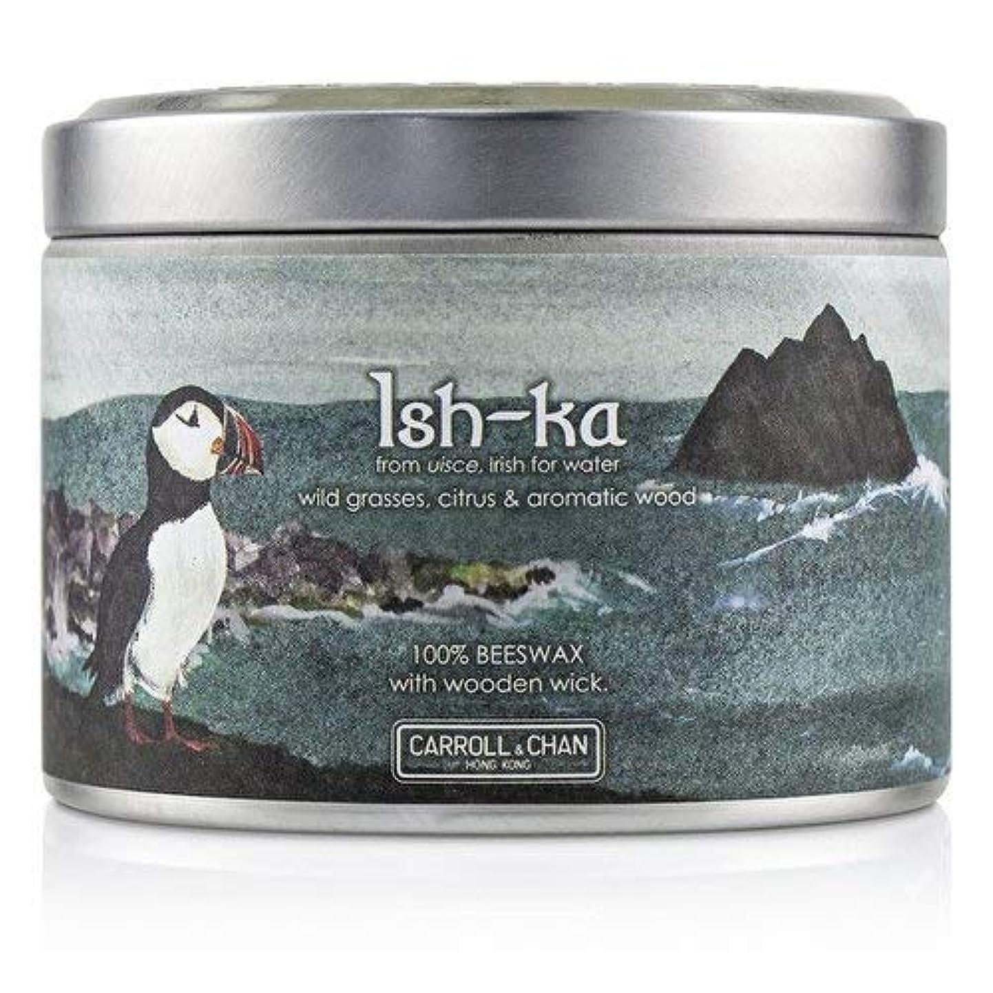 クレデンシャル七時半タクシーキャンドル?カンパニー Tin Can 100% Beeswax Candle with Wooden Wick - Ish-Ka (8x5) cm並行輸入品