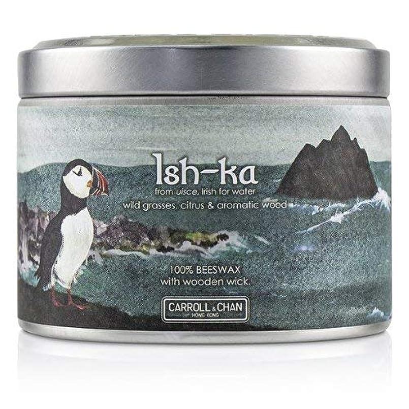 キャップ神経障害紳士キャンドル?カンパニー Tin Can 100% Beeswax Candle with Wooden Wick - Ish-Ka (8x5) cm並行輸入品
